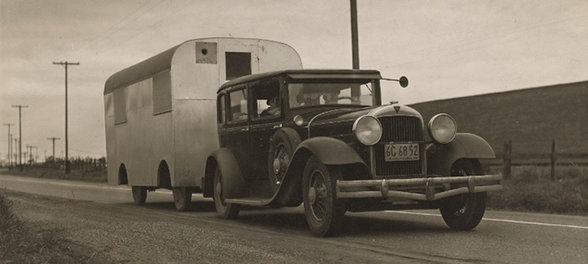 Truck Driving Great Depression Black and White